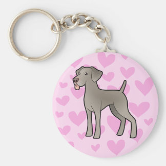 Weimaraner Love Key Ring
