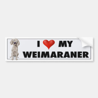 Weimaraner love sticker bumper sticker
