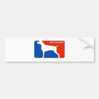 Weimaraner Major League Dog Bumper Sticker