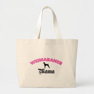 Weimaraner Mama Large Tote Bag