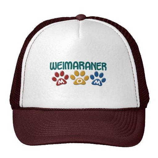 WEIMARANER Mom Paw Print 1 Trucker Hats