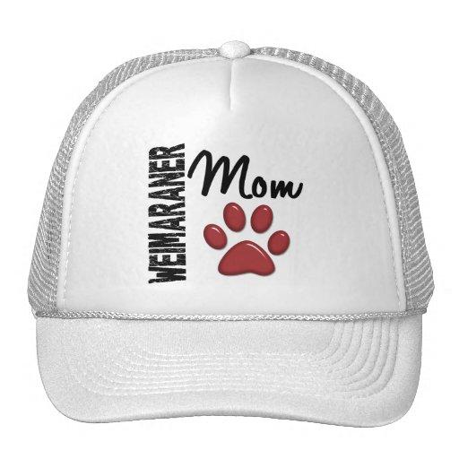 Weimaraner Mom Paw Print 2 Hat