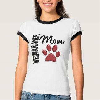 Weimaraner Mom Paw Print 2 T-Shirt