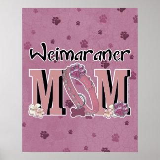 Weimaraner MOM Posters