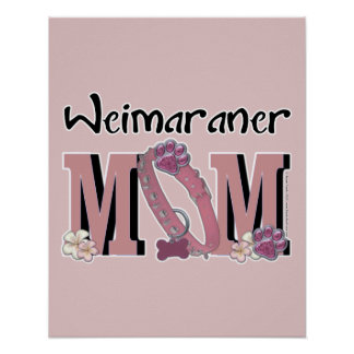 Weimaraner MOM Print
