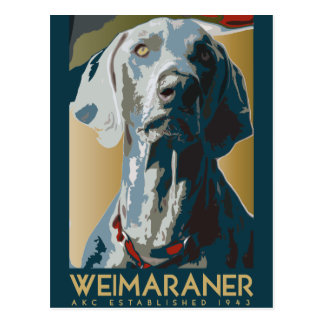 Weimaraner Nation : 1943 Weimaraner Postcard