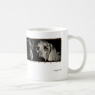 "Weimaraner Nation : ""A Thoughtful Stare"" Coffee Mug"