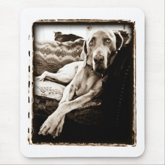 "Weimaraner Nation : ""Ballou's Chair"" Mouse Mat"