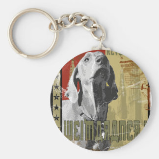 Weimaraner nation : Vintage Weimaraner! Key Ring