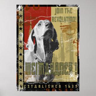 Weimaraner Nation : Vintage Weimaraner Posters