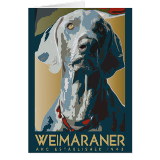 Weimaraner Nation : Weimaraner 1943 Card