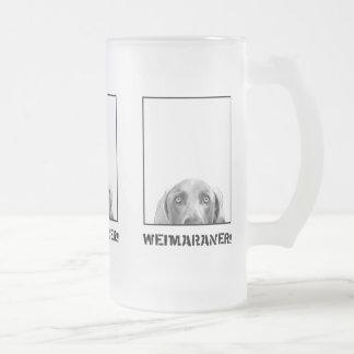 Weimaraner Nation : Weimaraner In A Box! Frosted Glass Mug
