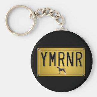 Weimaraner Nation : YMRNR License Plate Key Ring