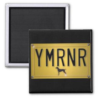 Weimaraner Nation : YMRNR License Plate Square Magnet