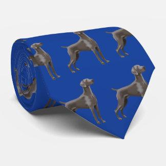 Weimaraner Neck Tie Colbalt Blue