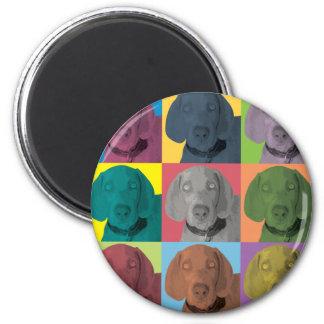 Weimaraner Pop-Art Magnet