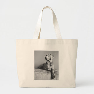 Weimaraner Portrait Large Tote Bag