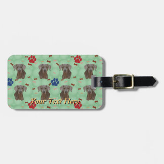 Weimaraner Portrait Luggage Tag