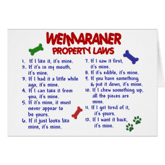 WEIMARANER Property Laws 2 Card