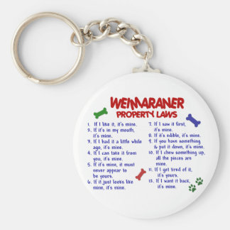 WEIMARANER Property Laws 2 Key Ring
