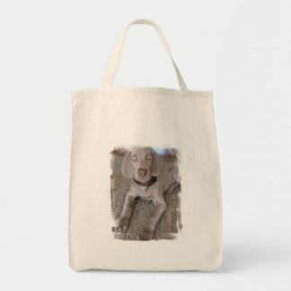 Weimaraner Puppy Grocery Tote Bag