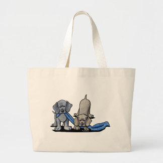 Weimaraner Puppy Large Tote Bag