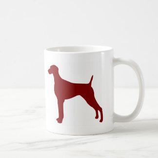 Weimaraner (Red) Coffee Mug