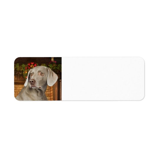 Weimaraner Return Address Label