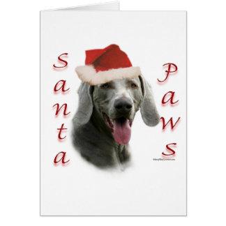 Weimaraner Santa Paws Greeting Card