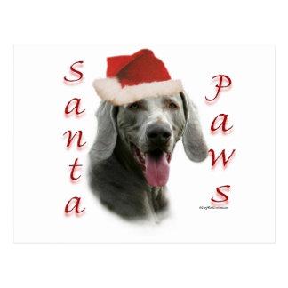 Weimaraner Santa Paws Postcard