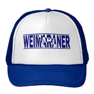 Weimaraner Silhouette Cap