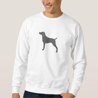Weimaraner Silhouette Pull Over Sweatshirts
