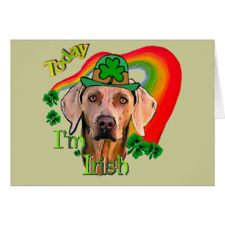 Weimaraner St Patrick s Day Greeting Cards