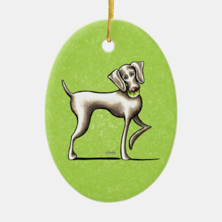 Weimaraner Tennis Pro Christmas Ornament