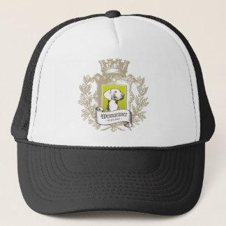 Weimaraner The Gray Ghost Crest Trucker Hat