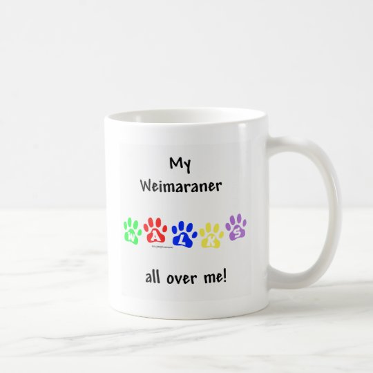 Weimaraner Walks Coffee Mug