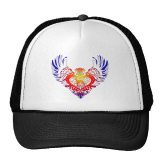 Weimaraner Winged Heart Trucker Hat