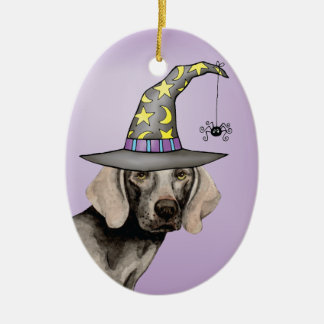 Weimaraner Witch Christmas Ornament