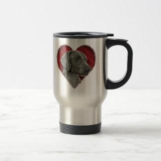 Weimaraner with Heart Mugs