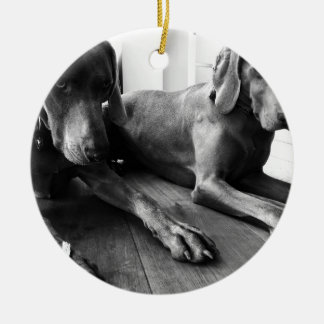 Weimaraners Christmas Ornament