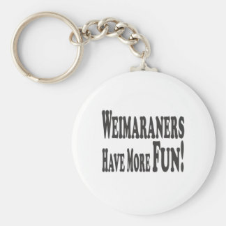 Weimaraners Have More Fun! Basic Round Button Key Ring