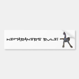 Weimaraners Rule! Bumper Sticker