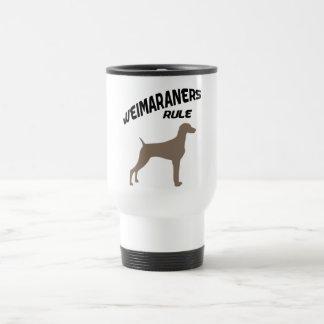 Weimaraners Rule Travel Mug