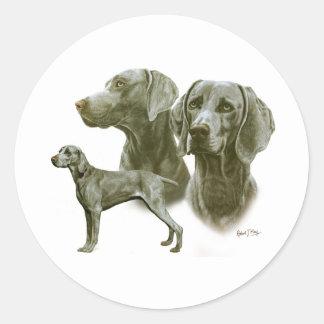 Weimeraner Classic Round Sticker