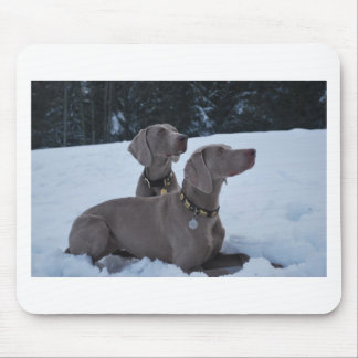 Weimeraner in the Snow Mouse Mat