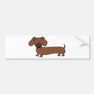 Weiner dog- Hot Dog Bumper Stickers
