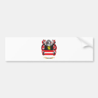 Weiner Family Crest (Coat of Arms) Bumper Stickers
