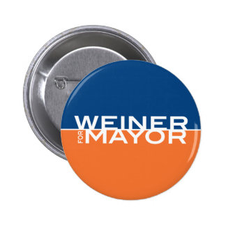 Weiner for Mayor 6 Cm Round Badge