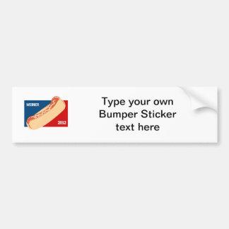 WEINER IN 2012 BUMPER STICKERS