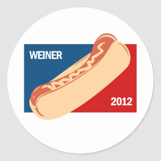 WEINER IN 2012 ROUND STICKER